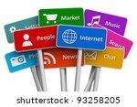 internet and social media... | Shutterstock . vector #93258205
