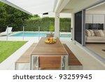 modern suburban backyard and... | Shutterstock . vector #93259945