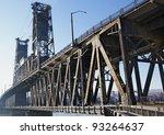 sharp image of bridge railing... | Shutterstock . vector #93264637
