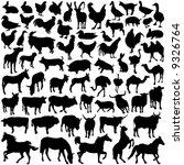 Stock vector farm animal vector 9326764
