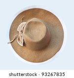 Top View Of Straw Hat