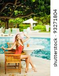 young beautiful woman outdoors... | Shutterstock . vector #93271804