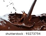 splash of chocolate isolated on ... | Shutterstock . vector #93273754