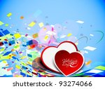 abstract valentines day... | Shutterstock .eps vector #93274066