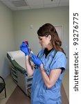 a young beautiful woman doctor... | Shutterstock . vector #93276775