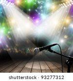 modern music concert with light ...   Shutterstock . vector #93277312