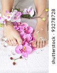 beauty composition   feet with... | Shutterstock . vector #93278728