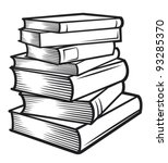 stack of books  | Shutterstock .eps vector #93285370