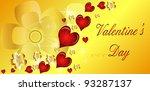 heart valentines day background | Shutterstock .eps vector #93287137