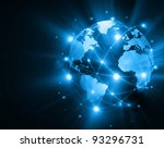 best internet concept of global ... | Shutterstock . vector #93296731