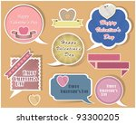 collection of speech bubbles... | Shutterstock .eps vector #93300205