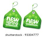 new spring collection labels. | Shutterstock .eps vector #93304777