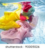 colorful clothes in the washing ... | Shutterstock . vector #93305026