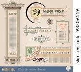 decorative elements for design... | Shutterstock .eps vector #93306559