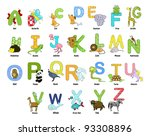 animal themed alphabet from a... | Shutterstock .eps vector #93308896