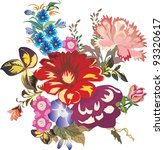 illustration with flowers... | Shutterstock . vector #93320617