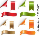 color ribbons set  isolated on... | Shutterstock .eps vector #93323047