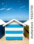 bathing boxes on brighton beach ...