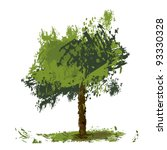 vector illustration of green ... | Shutterstock .eps vector #93330328