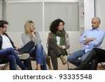 team building  group discussion ... | Shutterstock . vector #93335548