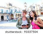 tourists couple travel in... | Shutterstock . vector #93337504