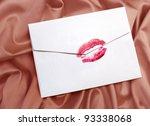 White Envelope With Lipstick...