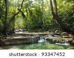 erawan waterfall  at  national... | Shutterstock . vector #93347452