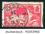 france   circa 1924  a stamp... | Shutterstock . vector #93353983