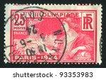 france   circa 1924  a stamp...   Shutterstock . vector #93353983