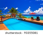 Pool At Tropical Beach  ...