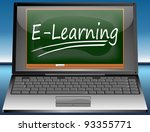 laptop with e learning | Shutterstock . vector #93355771