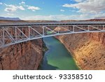 the easy metal bridge through... | Shutterstock . vector #93358510