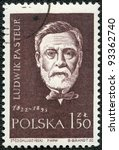 POLAND - CIRCA 1959: A stamp printed in Poland shows Louis Pasteur (1822-1895), series, circa 1959 - stock photo