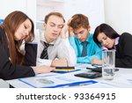 Young Business People Sleeping...