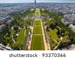 Champs de Mars - view from Eifell tower. - stock photo