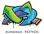 graffiti   Shutterstock .eps vector #93374101