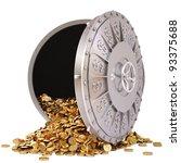 open a bank vault with a bunch... | Shutterstock . vector #93375688