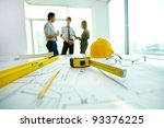 image of engineering objects on ... | Shutterstock . vector #93376225
