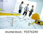 image of engineering objects on ... | Shutterstock . vector #93376240