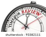 time for review concept clock... | Shutterstock . vector #93382111
