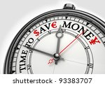 time to save money concept... | Shutterstock . vector #93383707