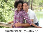 portrait of a couple in the... | Shutterstock . vector #93383977