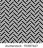 zigzag pattern in black and... | Shutterstock .eps vector #93387667