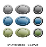 blue  green and grey button on... | Shutterstock . vector #933925