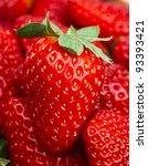 many red ripe strawberries.... | Shutterstock . vector #93393421
