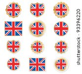 united kingdom badges and... | Shutterstock .eps vector #93396220