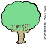 tree cartoon  raster version    Shutterstock . vector #93397639