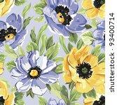summer beautiful floral... | Shutterstock .eps vector #93400714