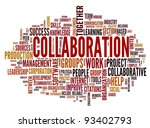 collaboration concept in word... | Shutterstock . vector #93402793