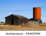 an old abandoned farm with a...   Shutterstock . vector #93403594